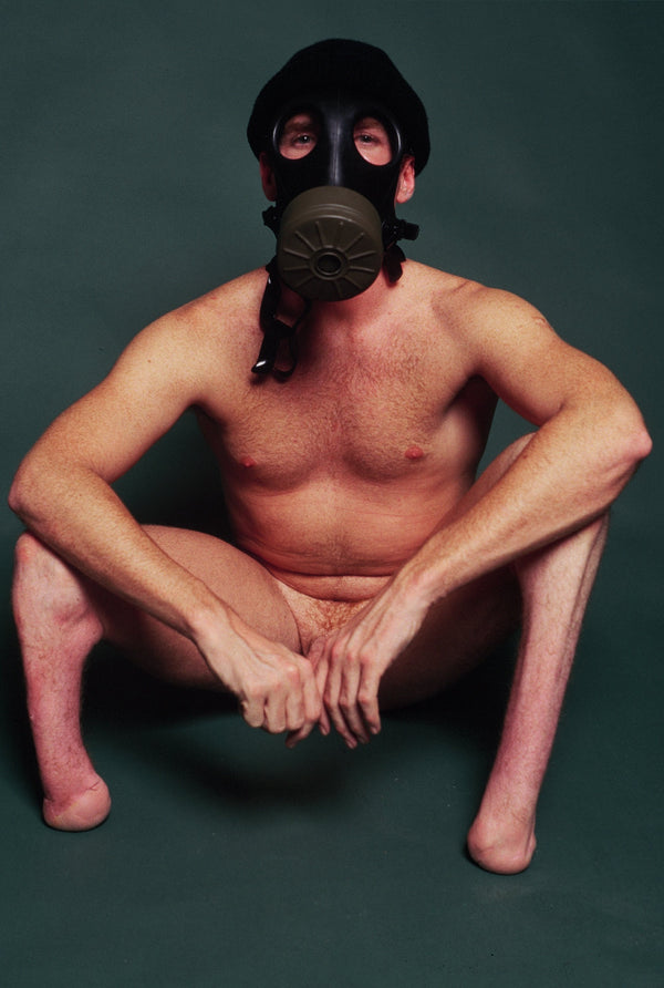 BRUCE LABRUCE, Amputee with Gas Mask, 1999