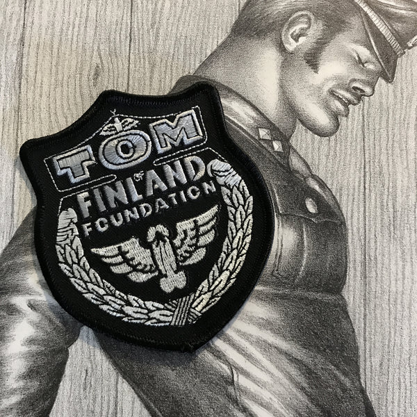 Tom of Finland Foundation Black / Silver Sew On Patch