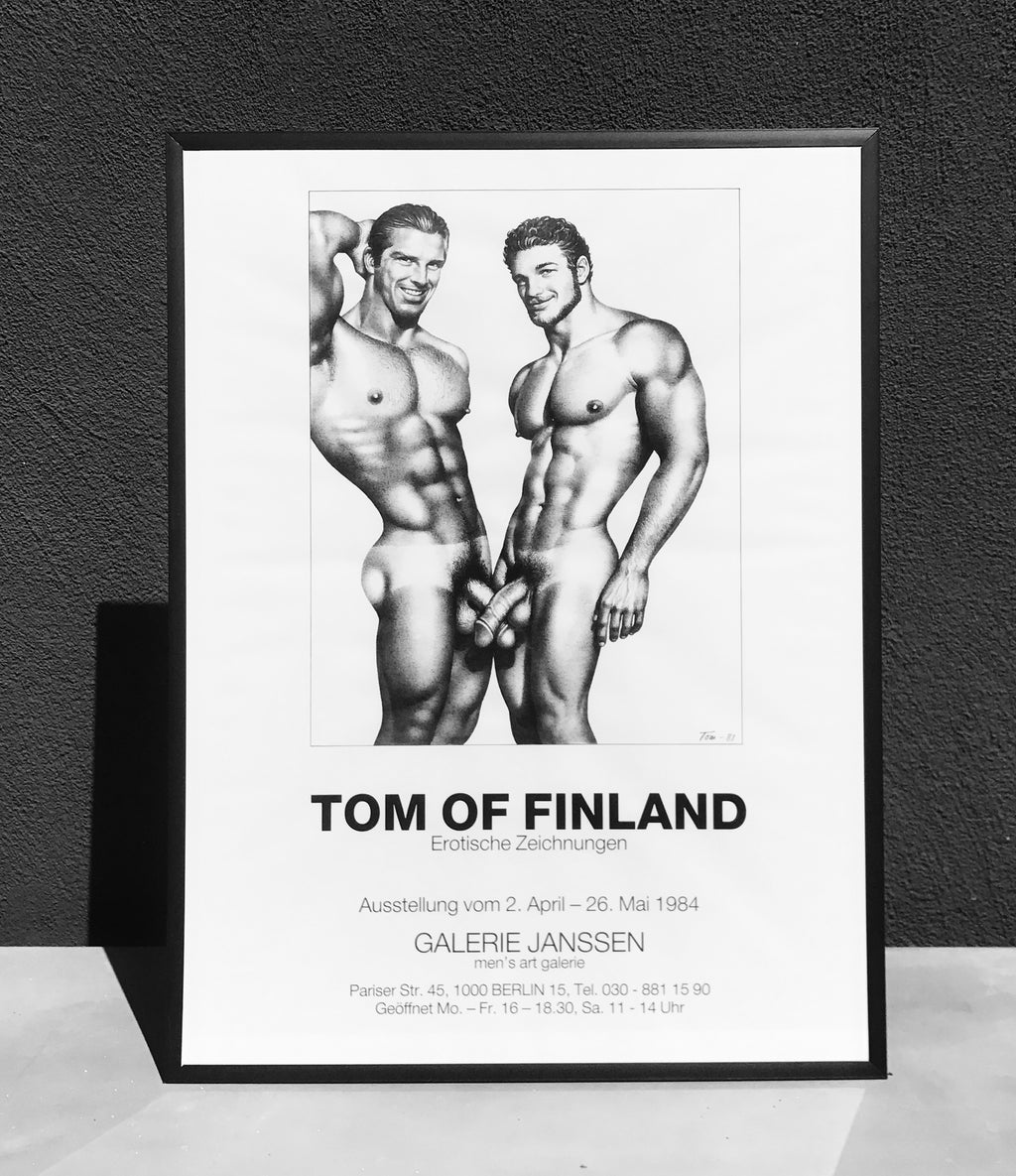 Tom of Finland Vintage 1984 Berlin Exhibition Poster