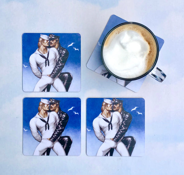 Tom of Finland Duo Wood Coaster