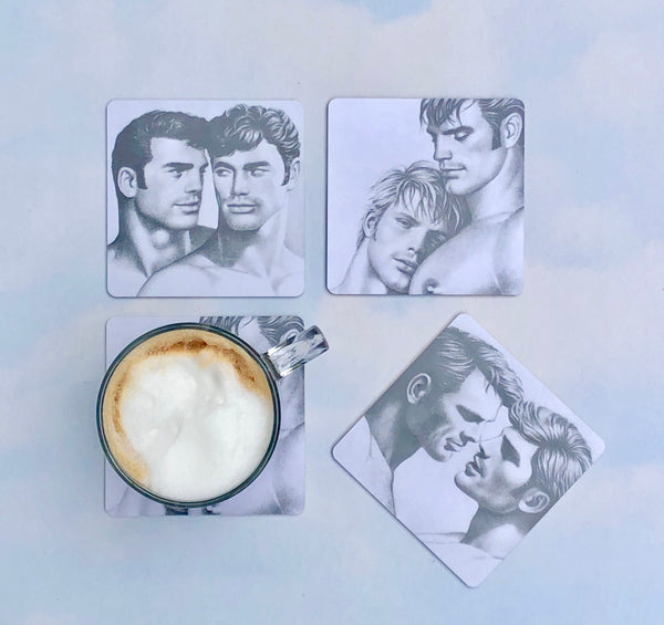 Tom of Finland Portrait Wood Coasters Set of 4