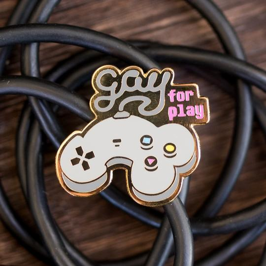 Gay For Play Pin by Gaypin'