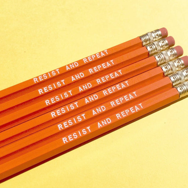 RESIST AND REPEAT Pencil Set by Rhino Parade