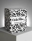 Keith Haring White/Black Drawing Candle