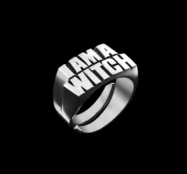 Bruce LaBruce I AM A WITCH Ring by Jonathan Johnson