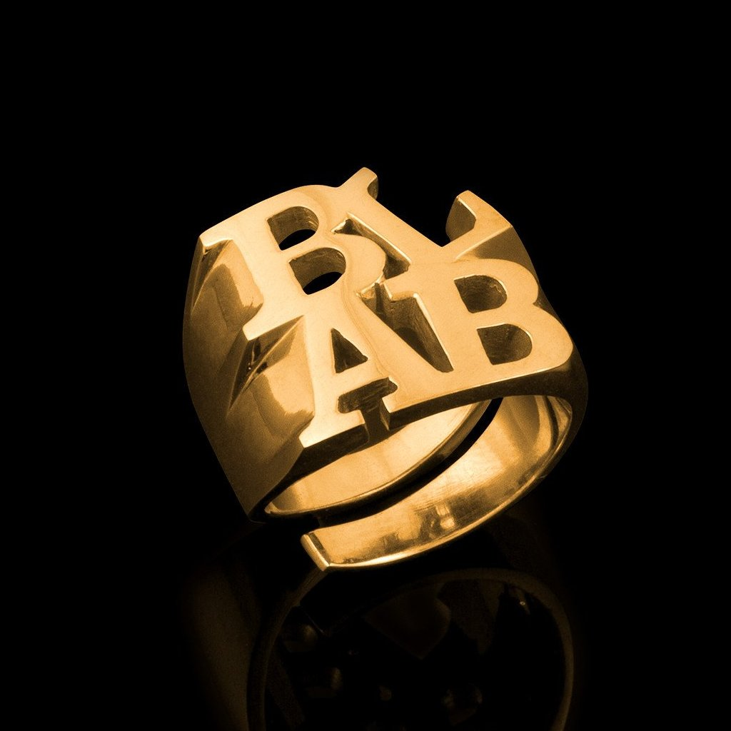 """BLAB"" ring designed in collaboration with Canadian artist Bruce LaBruce. image 1"