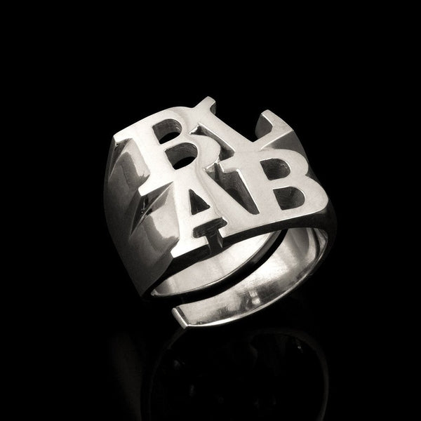 """BLAB"" ring designed in collaboration with Canadian artist Bruce LaBruce. image 2"