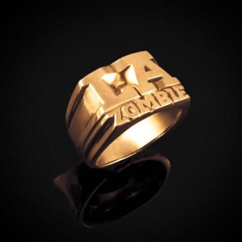 "Bruce LaBruce ""L.A. Zombie"" Gold Plated Ring by Jonathan Johnson image 1"