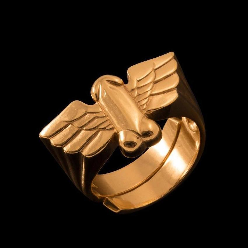 Jonathan Johnson x Tom of Finland FLYING COCK Ring