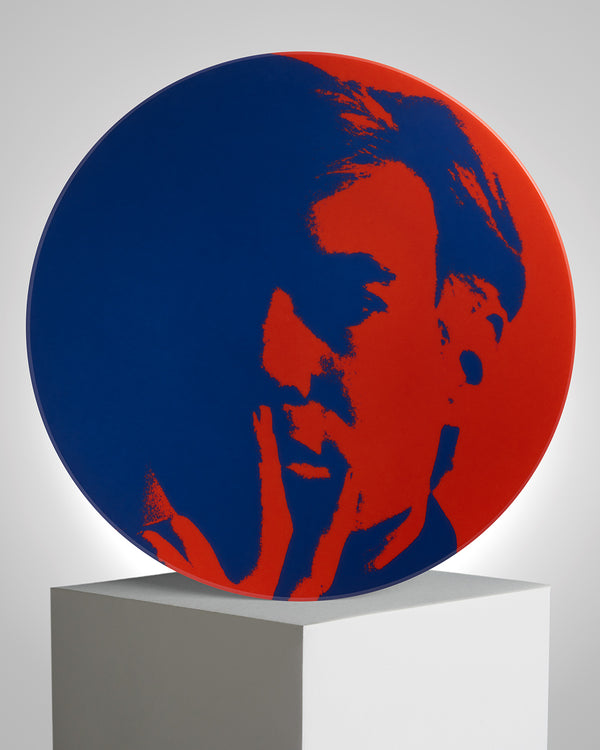 ANDY WARHOL PORCELAIN PLATE - Self Portrait - Red / Blue