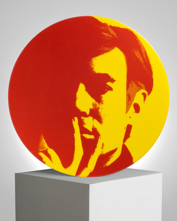 ANDY WARHOL PORCELAIN PLATE - Self Portrait - Red / Yellow