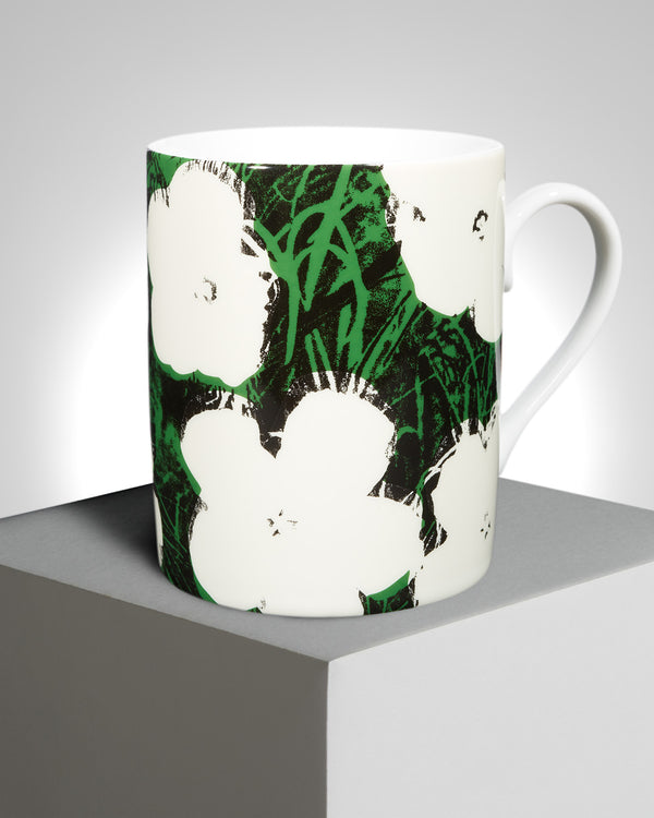 "Andy Warhol ""White Flowers"" PORCELAIN MUG"