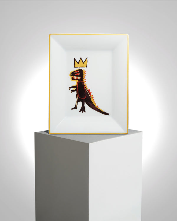 "JEAN-MICHEL BASQUIAT PORCELAIN TRAY ""GOLD DRAGON"""