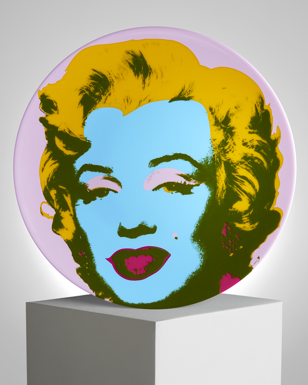 ANDY WARHOL PORCELAIN PLATE - MARILYN - Green / YELLOW