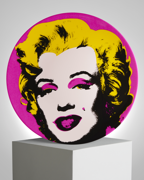 ANDY WARHOL PORCELAIN PLATE - MARILYN - PINK / YELLOW
