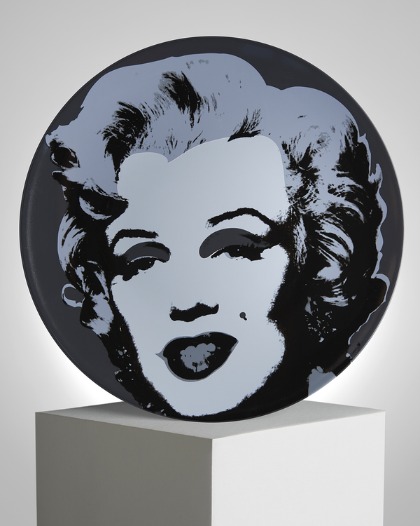 ANDY WARHOL PORCELAIN PLATE - MARILYN - BLACK / GRAY