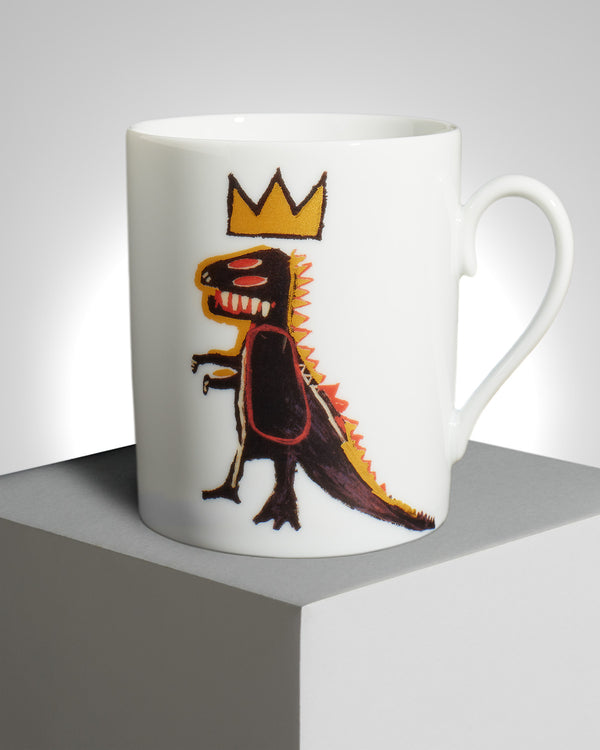 "Jean-Michel Basquiat ""Gold Dragon"" PORCELAIN MUG"
