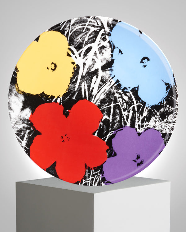 ANDY WARHOL PORCELAIN PLATE - FLOWERS - Purple