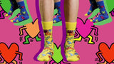 HAPPY SOCKS KEITH HARING COLLECTION ALL OVER PRINT SOCKS (ONE PAIR)