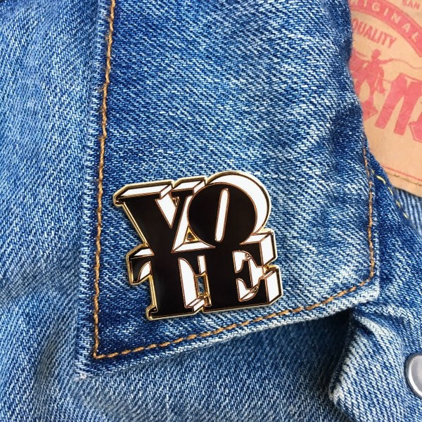 VOTE (Black & White) Pin By The Found