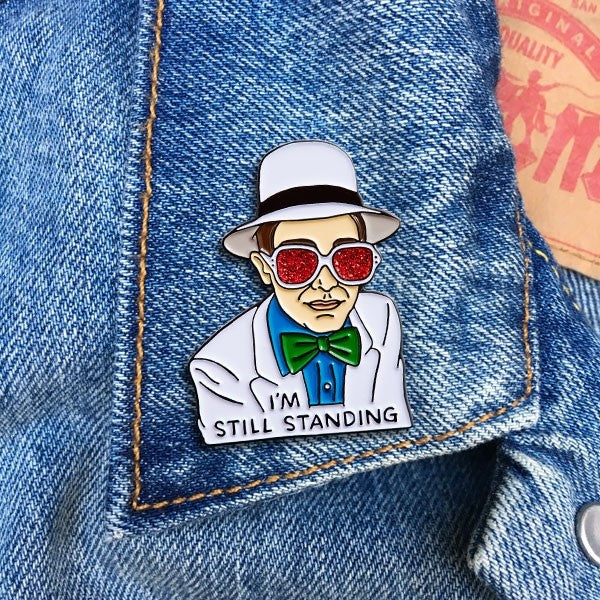 Elton I'm Still Surviving Pin By The Found