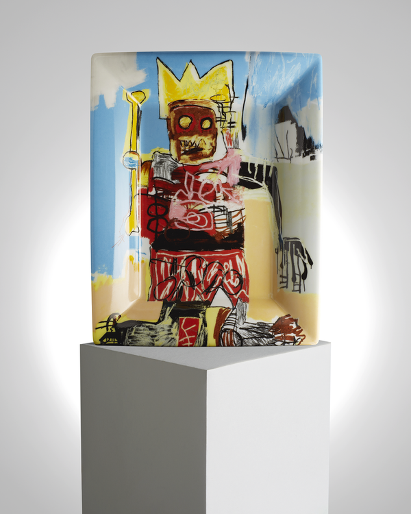 "JEAN-MICHEL BASQUIAT PORCELAIN TRAY ""UNTITLED"""