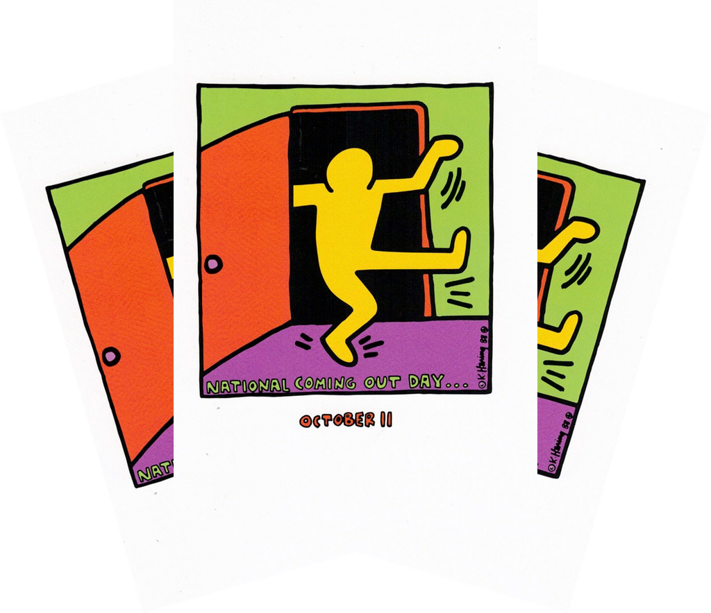 Keith Haring National Coming Out Day Postcard