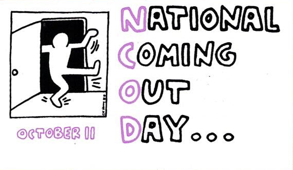 Keith Haring National Coming Out Day Sticker