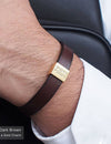 16 UNIQUE MEN'S LEATHER BRACELETS