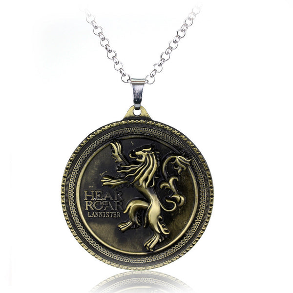 Game of Thrones House Lannister Pendant Necklace