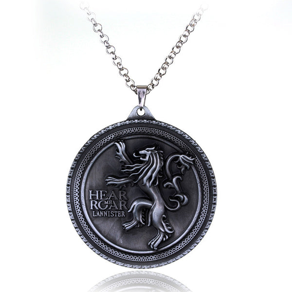 Game of Thrones House Lannister Pendant Necklace , necklace - ornacraft