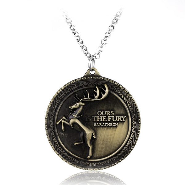 Game of Thrones House Baratheon Pendant Necklace , necklace - ornacraft