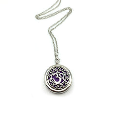 Om Essential Oil Diffuser Pendant Necklace , necklace - ornacraft