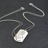"""His One, Her Only"" Stamped Pendant Necklace"