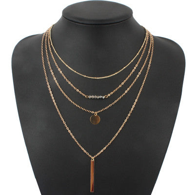 Multilayer Charm Gold Chain Necklace [Multiple Styles] , necklace - ornacraft