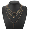 Multilayer Charm Gold Chain Necklace [Multiple Styles]
