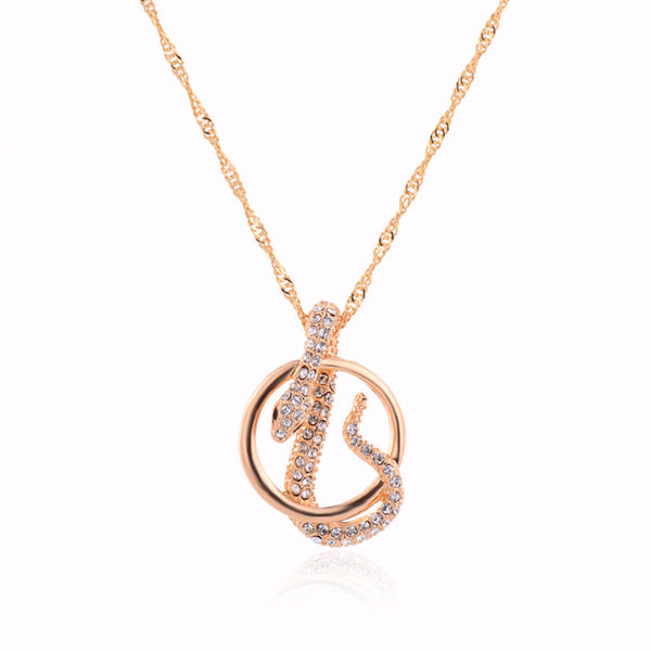 Crystal Snake Pendant Necklace , necklace - ornacraft