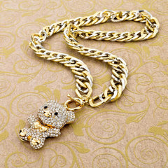Crystal Bear Hug Pendant Necklaces , necklace - ornacraft