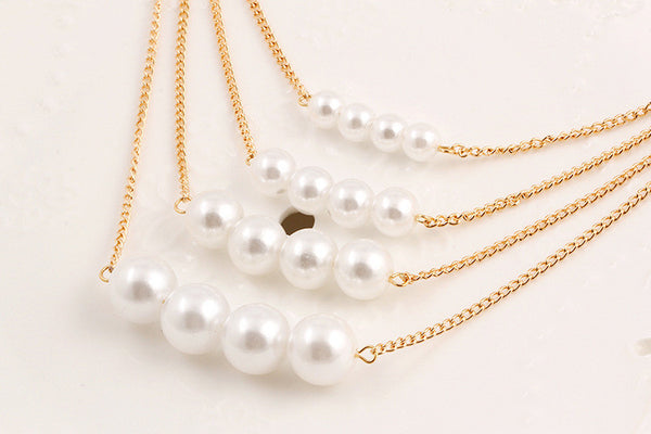 Multilayer Pearl Necklaces , necklace - ornacraft