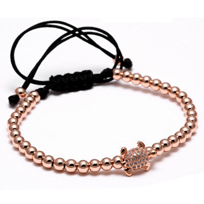 4mm Beads turtle Macrame Bracelet [3 options] , bracelet - ornacraft