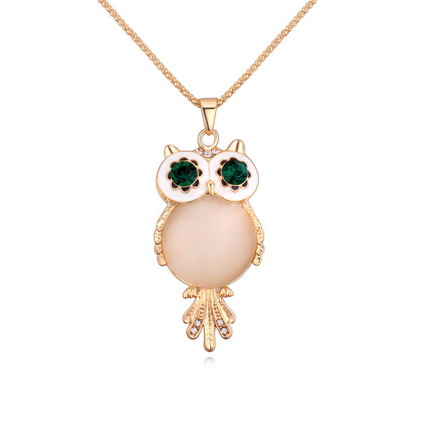 Charms Crystal Owl Pendants Bohemian Necklaces