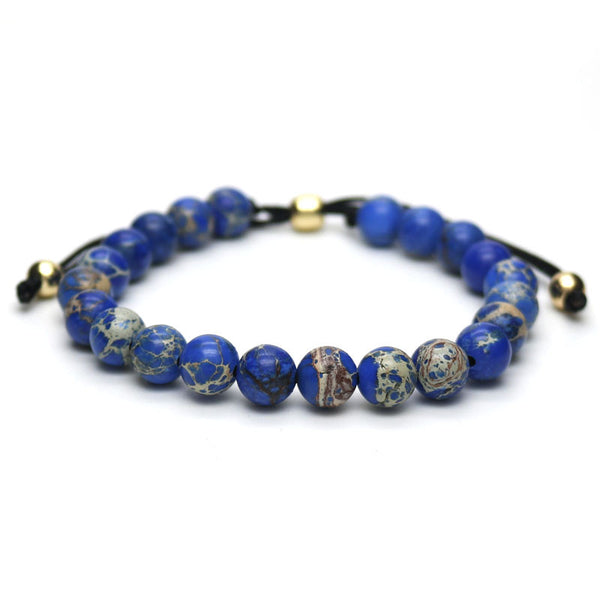 Blue Jasper Stone Beads Bracelet [4 options] , bracelet - ornacraft