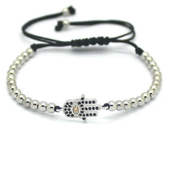 Hamsa Hand 4mm Beads Macrame Bracelets [3 options] , bracelet - ornacraft