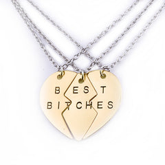 Share with Three Best Friends Gold Pendant Necklace