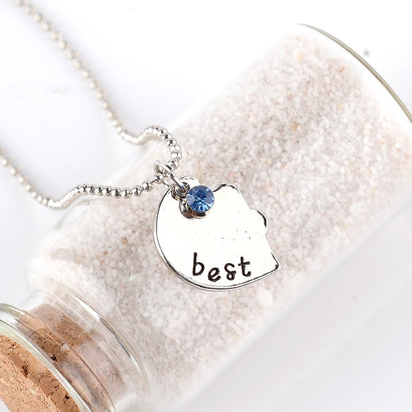 Best Friends Forever Quote Share Pendant Necklace , necklace - ornacraft