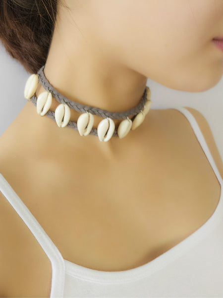 Cowry Shell Choker Beach Necklace , necklace - ornacraft