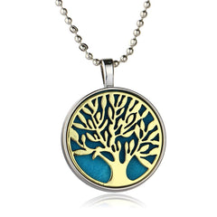 Tree of Life Pattern Essential oil Diffuser Pendant Necklace , necklace - ornacraft