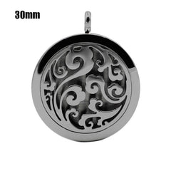 Flower Essential Oil Diffuser Locket Pendant , necklace - ornacraft
