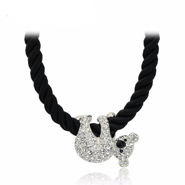 Cute Koala White/Rose Gold Pated Pendant Necklace , necklace - ornacraft
