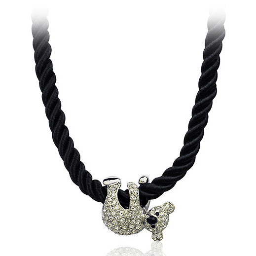 Cute Koala White/Rose Gold Pated Pendant Necklace